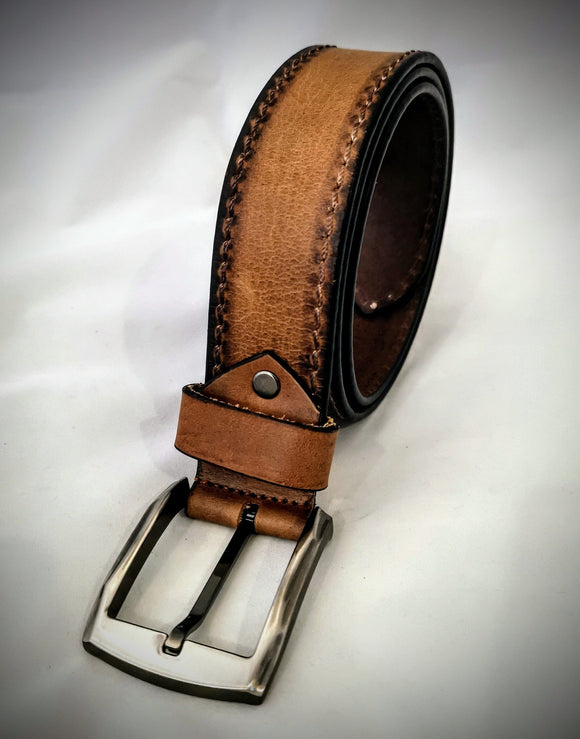 Noah - Light Brown - Casual Belt - Square Buckle