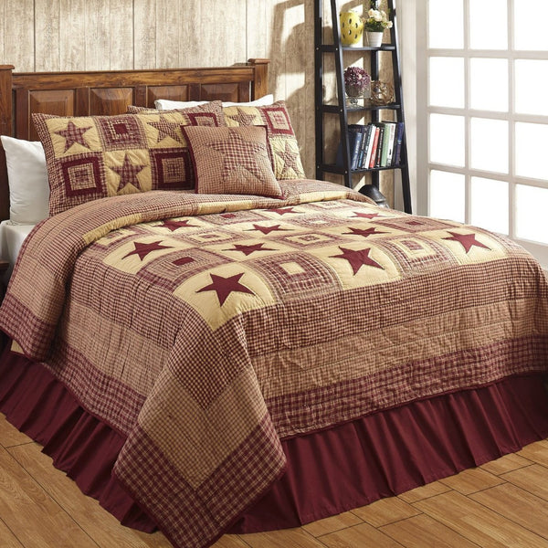 Colonial Star Burgundy & Tan Collection