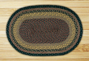 Brown/Black/Charcoal C-099 Jute Braided Rug - Oval