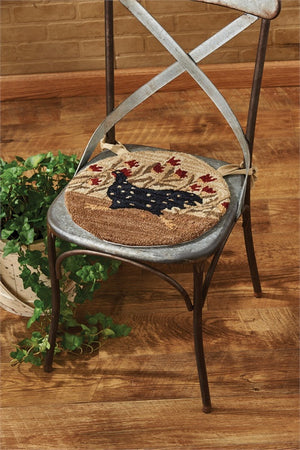 Chicken Run Hooked Chair Pad - Set of 2