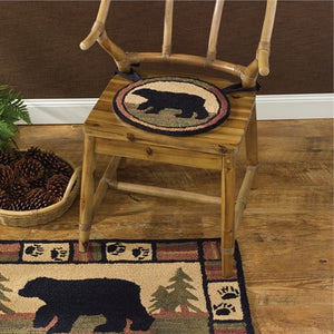 Adirondack Bear Hooked Chair Pad by Park Designs - DL Country Barn