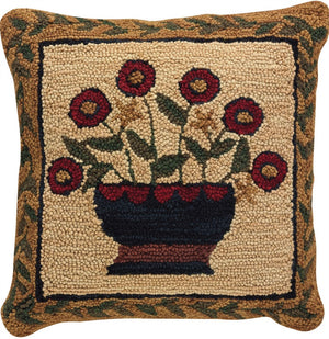 Flower Basket Hooked Pillow by Park Designs - DL Country Barn