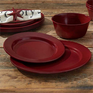 Linville Red Enamel Dinnerware Set - 16pc