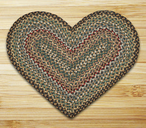 Fir/Ivory C-051 Heart Shaped Jute Rug