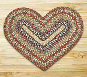 Honey/Vanilla/Ginger C-300 Heart Shaped Jute Rug