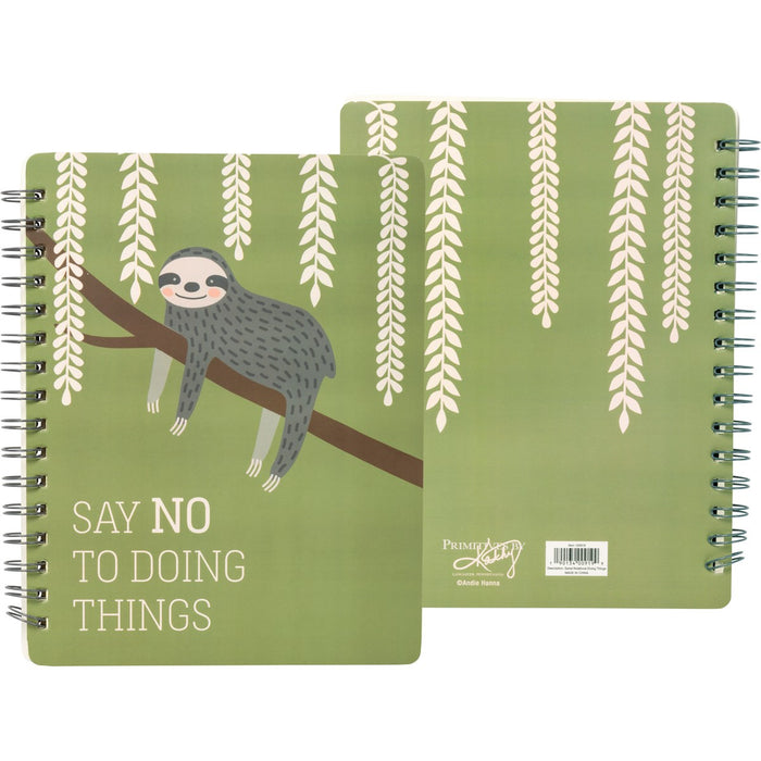 Sloth Spiral Notebook - Say No To Doing Things
