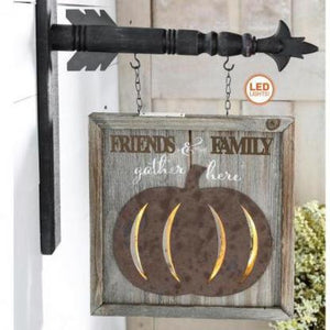 Family & Friends Gather LED Lighted Arrow Replacement Sign