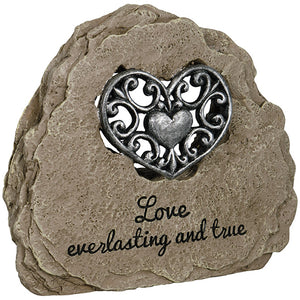 """Love"" Heartnote Message Stone Sign"