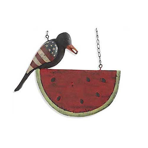 Black Americana Crow on Watermelon Arrow Replacement Sign