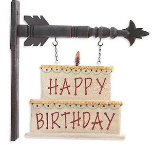 Happy Birthday Cake Arrow Replacement by K&K Interiors
