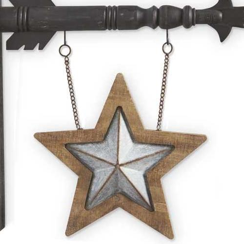 Two-Sided Tin and Wood Star Arrow Replacement Sign