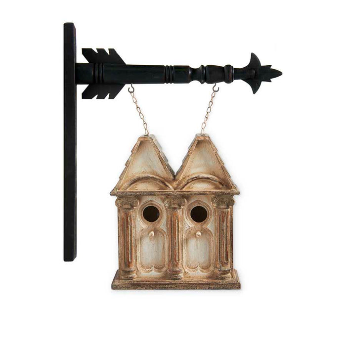 White Washed Double Roof Birdhouse Arrow Replacement Sign - SPECIAL ORDER