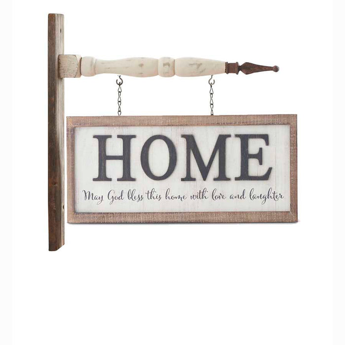 2 Sided Horizontal HOME White Washed Arrow Replacement Sign