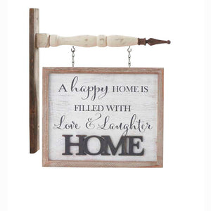 2 Sided White Washed HOME Arrow Replacement Sign