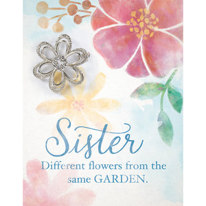 """Sister"" Brooch Greeting Card"