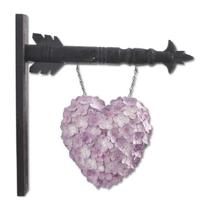Resin Purple Hydrangea Heart Arrow Replacement Sign
