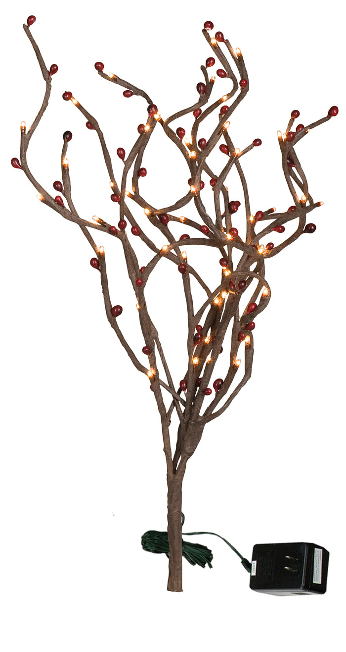 Berry Twig Lighted Branch