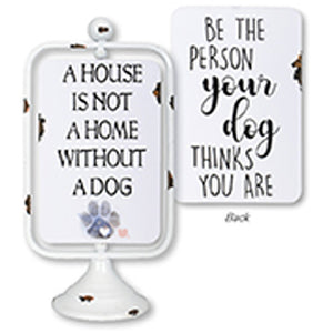 """Dog"" Reversible Table Sign"