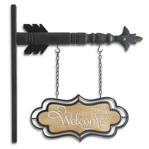 "13"" Double-Sided WELCOME Arrow Replacement Sign"