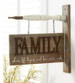 2 sided FAMILY Barn Board Arrow Replacement Sign