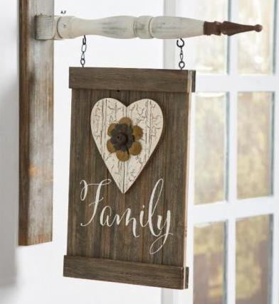 Brown Wood FAMILY Barn Board Arrow Replacement Sign