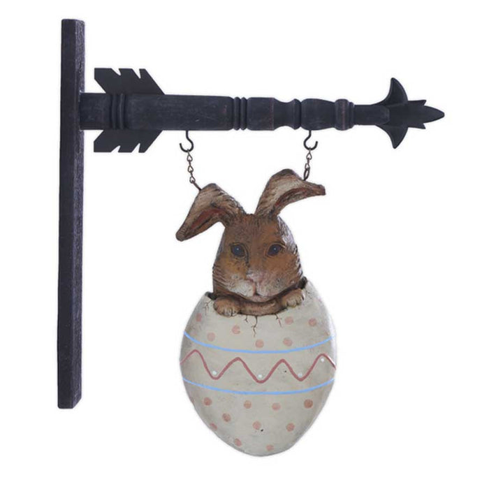 Rabbit in Egg Arrow Replacement Sign