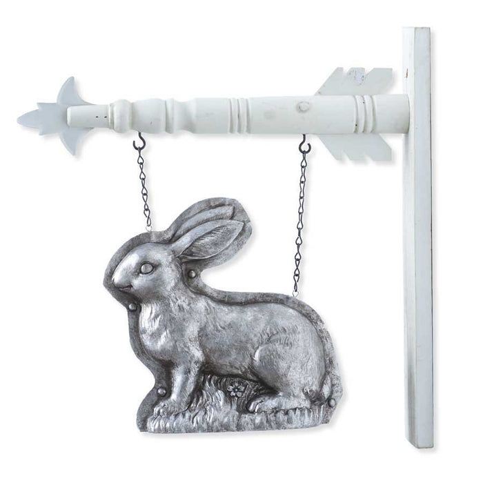 Silver Standing Rabbit Arrow Replacement Sign