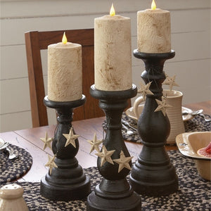 Blackstone Pillar Candle Holders - Set of 3 by Park Designs - DL Country Barn