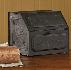 Black Star Metal Bread Box | Embossed Box