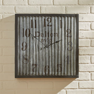 Galvanzied Wall Clock - Large 20 inch