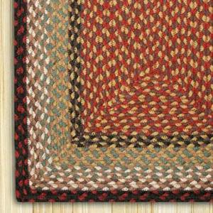 Burgundy/Mustard C-019 Jute Braided Rug - Rectangular