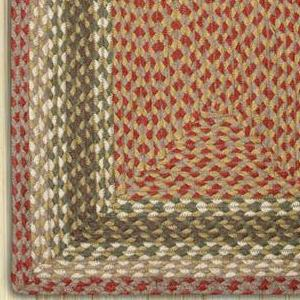 Olive/Burgundy/Gray C-024 Jute Braided Rug