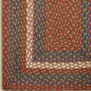Burgundy/Gray C-040 Jute Braided Rug