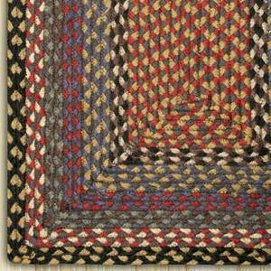 Burgundy/Blue/Gray C-043 Jute Braided Rug