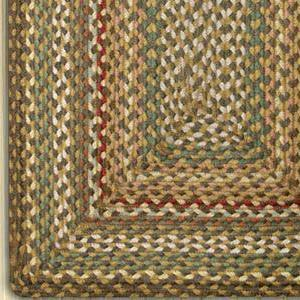 Fir/Ivory C-051 Jute Braided Rug