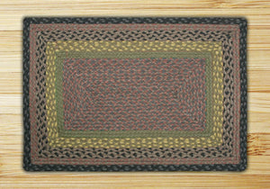 Brown/Black/Charcoal C-099 Jute Braided Rug - Rectangular