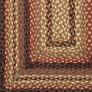 Black Cherry/Chocolate/Cream C-371 Jute Braided Rug