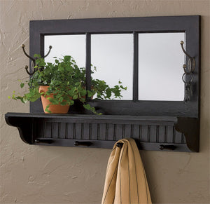Southport Shelf with Hooks - Black | Park Designs
