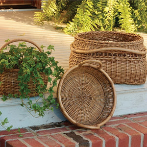Artisan Baskets with Rattan Pole Handles - Set of 3 by Park Designs - DL Country Barn