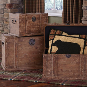 Distressed Wood Trunks - Set of 3 by Park Designs - DL Country Barn