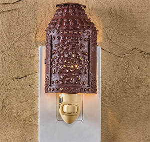 Punched Lantern Night Light - Burgundy
