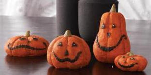 Halloween Pumpkins with Faces - Small
