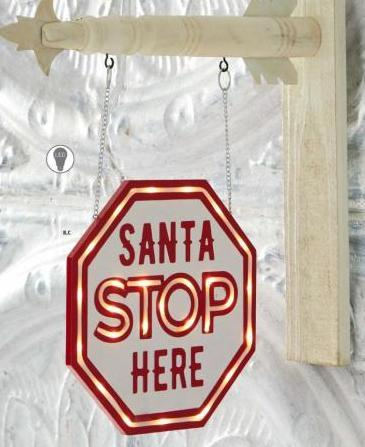 LED SANTA STOP HERE Arrow Replacement Sign - AS IS (NO RETURNS)