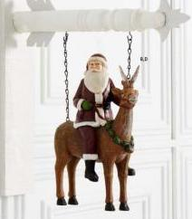 Santa Riding Reindeer Arrow Replacement Sign