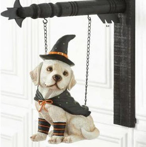 Dog with Witch Hat Arrow Replacement Sign by K&K Interiors