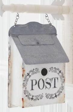 Whitewashed Metal Mail Box Bird House Arrow Replacement Sign - PRE-ORDER