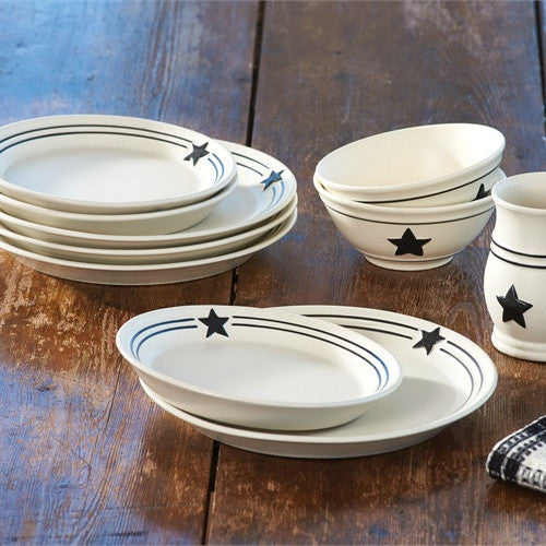 Country Star Dinnerware Collection 16 pice set by Park Designs & Dinnerware Collections by Park Designs | Country Primitive Dishes ...