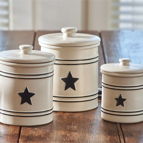 Country Star Canister Set by Park Designs - Country Star Dinnerware Collection & Country Star Dinnerware Collection by Park Designs | Farmhouse Style ...