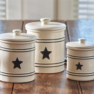 Country Star Canister Set by Park Designs - Country Star Dinnerware Collection