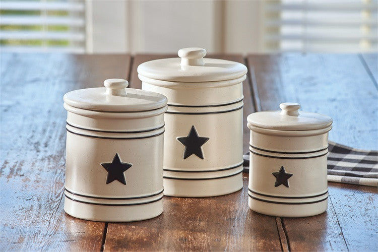Country Star Canister Set Country Star Dinnerware By